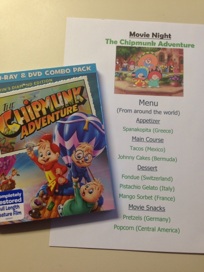 Chipmunk movie and menu